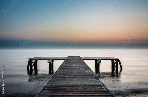 Sunrise at the pier in Sopot, Poland.  #71001124