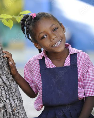Fototapeta Haitian School Girl