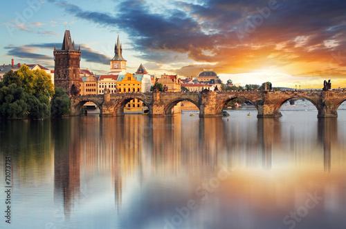 Prague - Charles bridge, Czech Republic Fotobehang