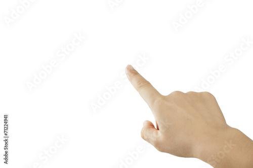 Fotografiet pointing the finger