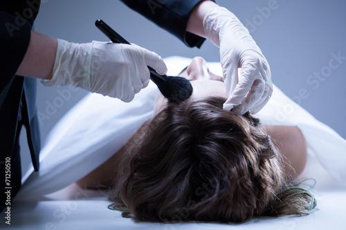 Fotografia Corpse preparing before funeral