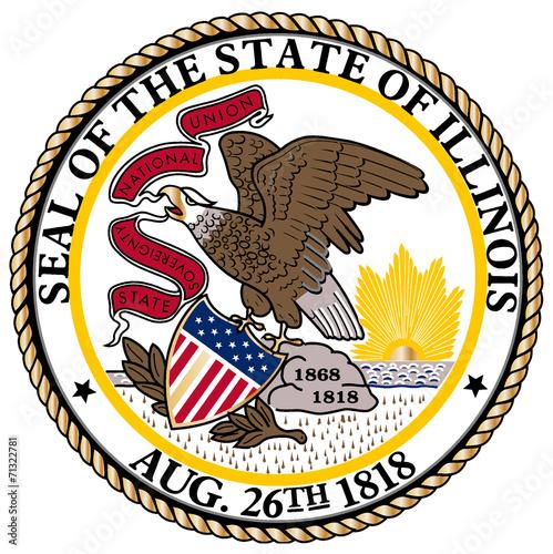 Valokuvatapetti Illinois State Seal