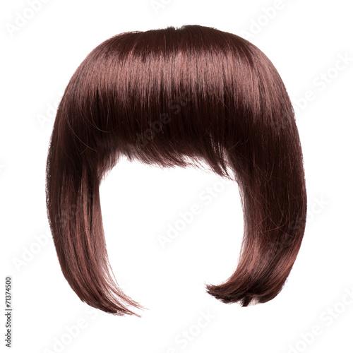 brown hair isolated Fototapeta