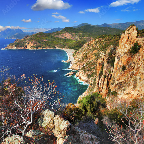 stanning landscapes of Corsica island