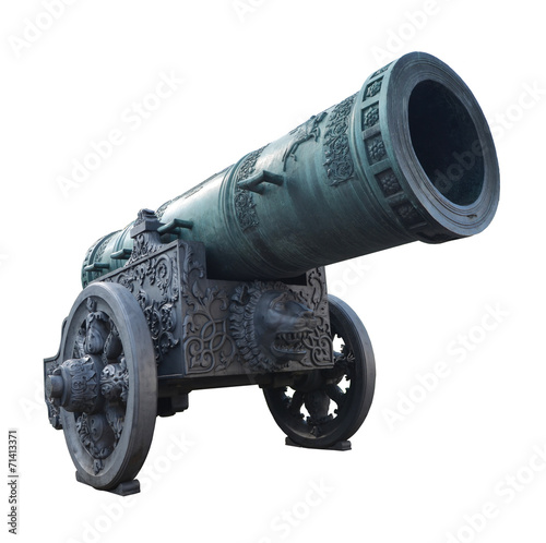 Cuadros en Lienzo Big old canon in Russia isolated