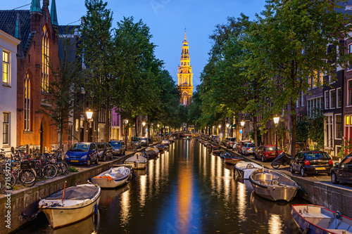 Fototapeta premium Kanały Amsterdamu