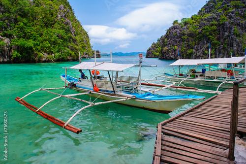 scene of beach in coron, philippines