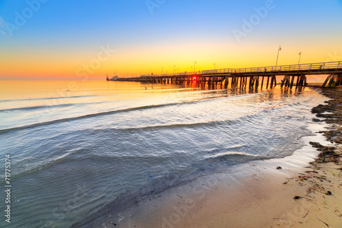 Sunrise at Baltic sea in Sopot, Poland #71775374