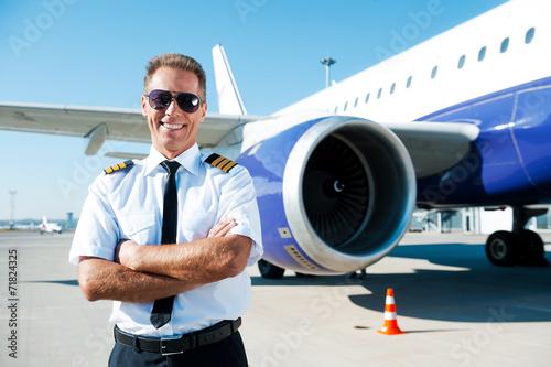 Confident pilot. Fototapeta