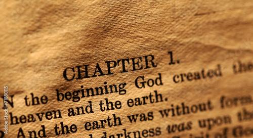 Canvastavla Holy bible
