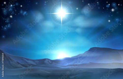Carta da parati Christmas Nativity Star of Bethlehem