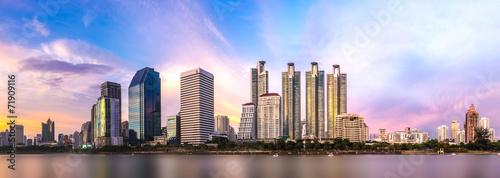 Canvas Print bangkok twilight cityscape