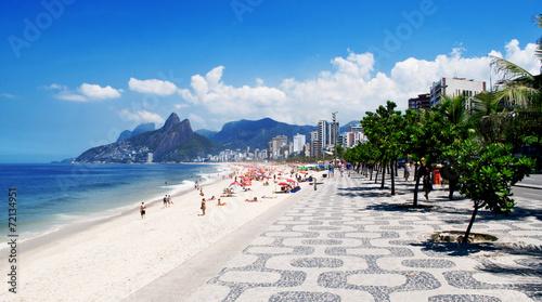 Sidewalk of Ipanema in Rio de Janeiro. Brazil