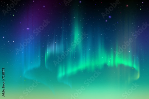 Zorzy Borealis tło, północnych świateł ilustracja
