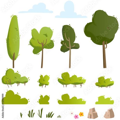 kit nature et forêt Fototapeta