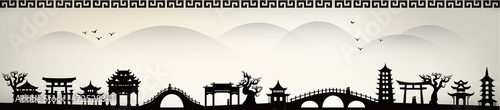 Obraz na plátně China city