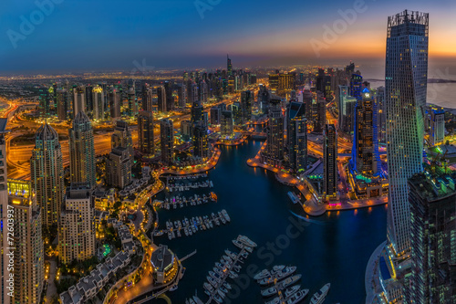 DUBAI, UAE - OCTOBER 13: Modern buildings in Dubai Marina, Dubai #72603937