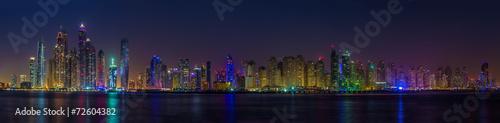 Panorama skyscrapers in Dubai Marina. UAE #72604382