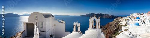 Obraz na płótnie Panorama Santorini
