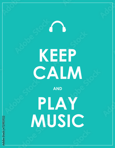 Canvas Print Keep calm and play music,vector background,eps10