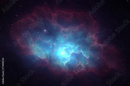 Fotomural Deep space nebula