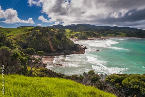 Fototapeta premium Zaciszne plaże w Bay of Islands, Northland Nowa Zelandia