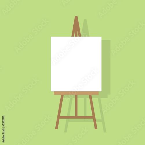 Fotografia easel flat icon design vector illustration
