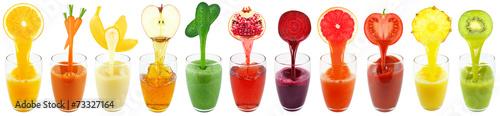 Stampa su Tela kiwi juice