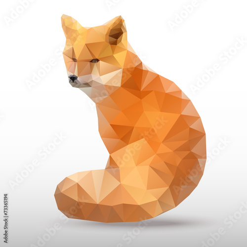 Fototapeta abstract polygonal Fox