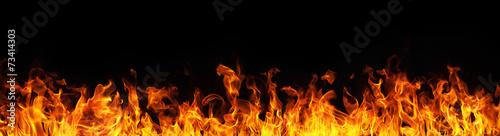 Fotografie, Obraz Fire flames on black background