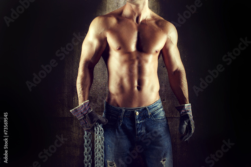 Photo Sexy man worker