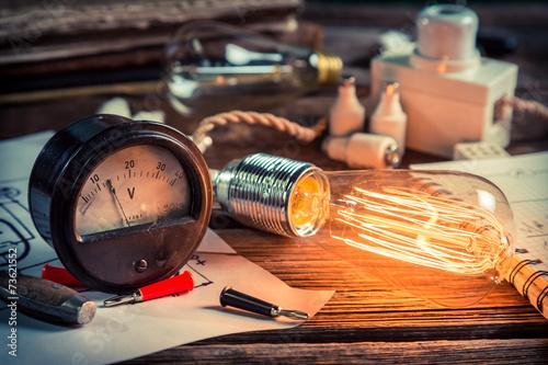 Fotografia, Obraz In the Edison's laboratory