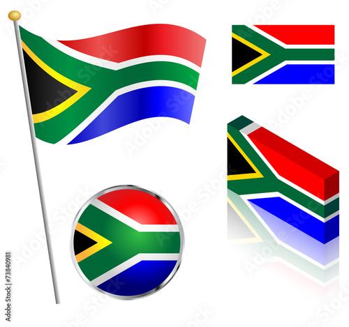 Wallpaper Mural South African Flag Set