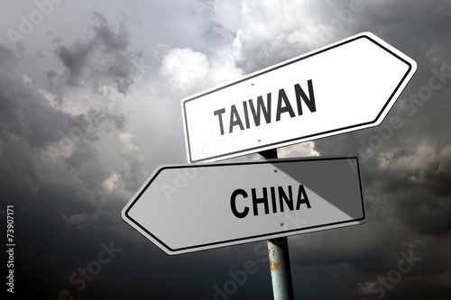 Slika na platnu Taiwan and China directions.