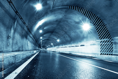 Canvas-taulu Abstract car in the tunnel trajectory