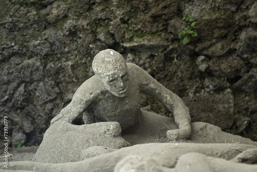 Wallpaper Mural eruption victim of Vesuvius in Pompeii