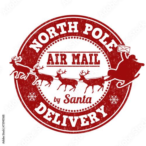 Fototapeta North Pole delivery stamp