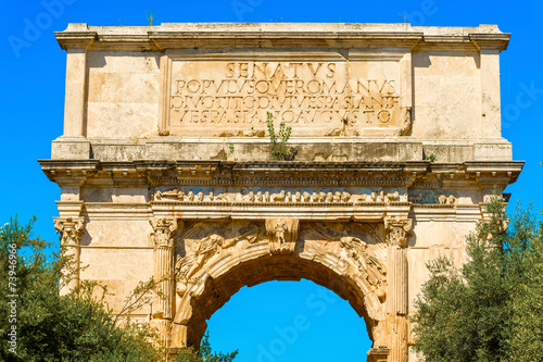 The arch of Titus in Rome Italy Fototapeta