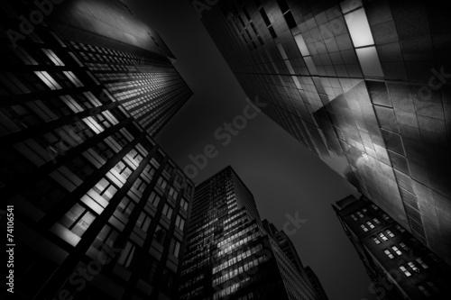 Obraz na płótnie Mroczne drapacze chmur w Nowym Jorku
