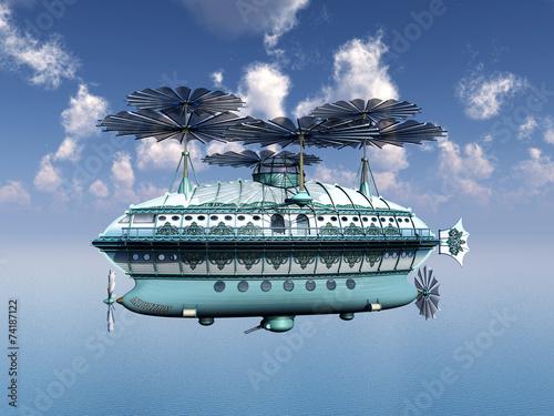 Canvas Print Fantasy Airship