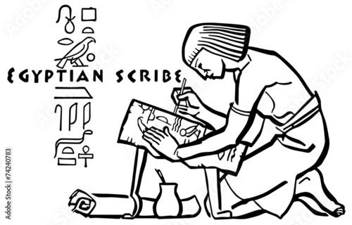 Obraz na plátně Egyptian Scribe