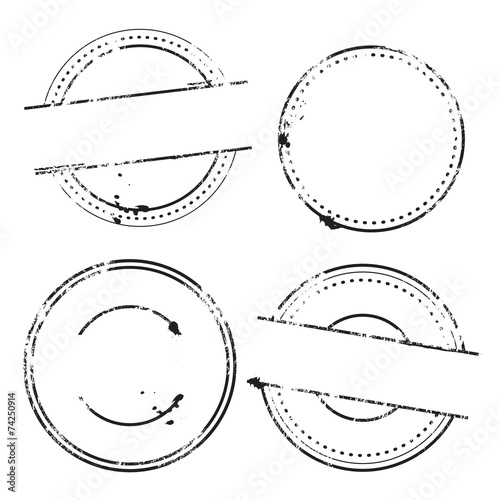 Canvas-taulu Sample Stamps Vector Set - Rounded stamps