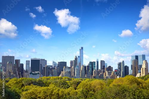 Foto Manhattan skyline with Central Park in New York City