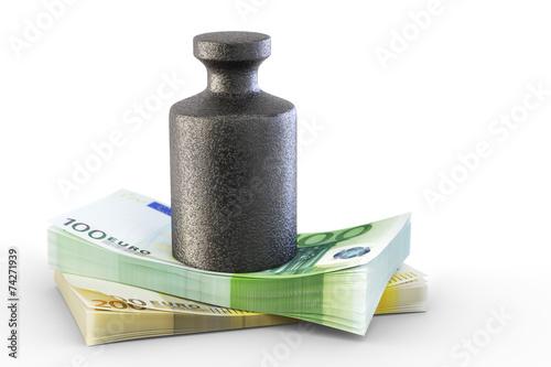 Fototapeta Gewicht Geld