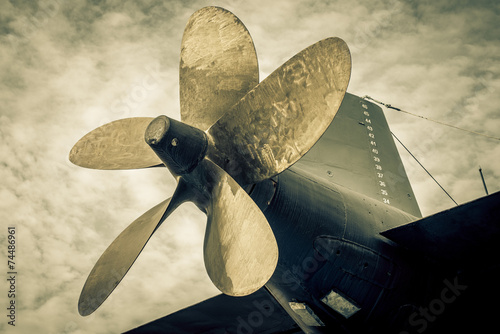 Canvas Print submarine propeller