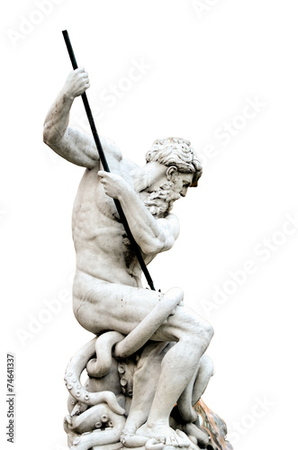 Isolated Neptune, Piazza Navona in Rome Italy Fototapeta