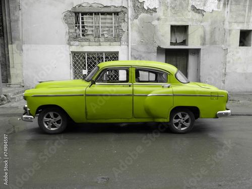 American old car in Cuba