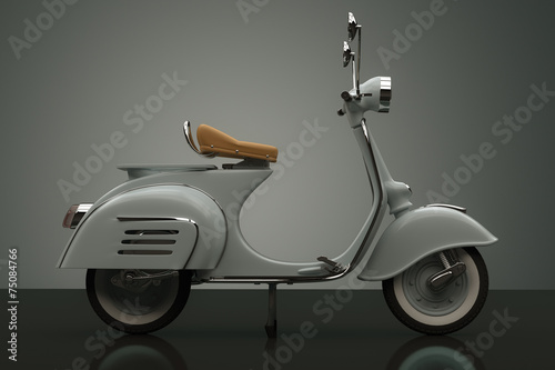 Canvas Print Scooter