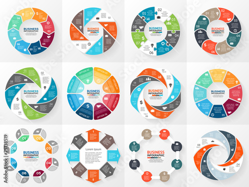 Canvas Print Business circle infographic, diagram with options