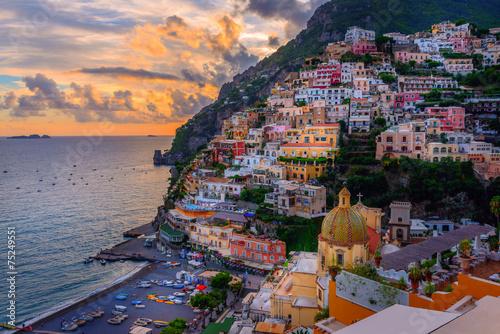 Canvas Print Positano, Amalfi Coast, Italy